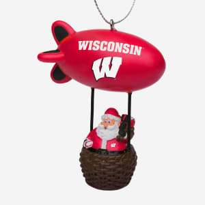 Wisconsin Badgers Santa Blimp Ornament