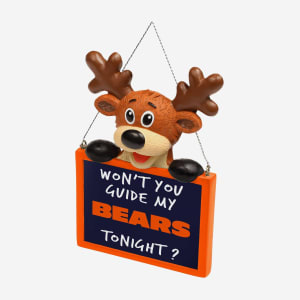 Chicago Bears Reindeer With Sign Ornament