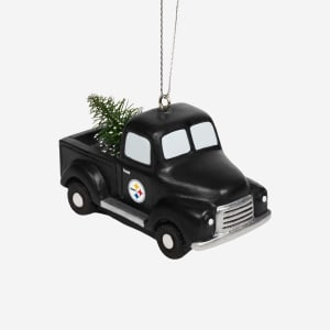 Pittsburgh Steelers Truck With Tree Ornament