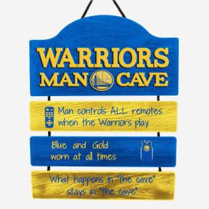 Golden State Warriors Mancave Sign