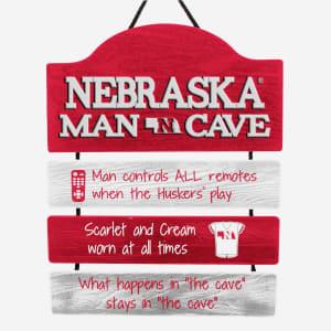 Nebraska Cornhuskers Mancave Sign