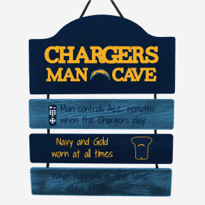 Los Angeles Chargers Mancave Sign