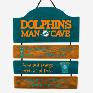 Miami Dolphins Mancave Sign