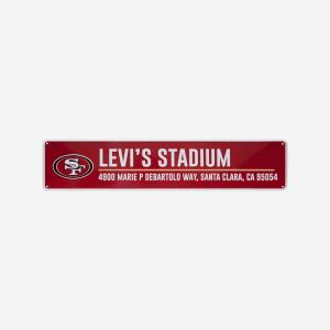 San Francisco 49ers Stadium Street Sign