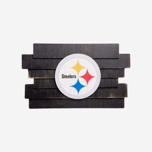 Pittsburgh Steelers Staggered Wood Logo Sign