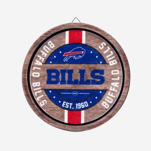 Buffalo Bills Wooden Barrel Sign