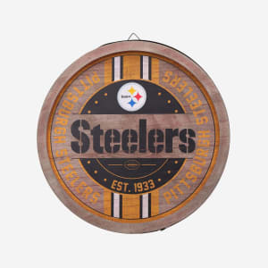 Pittsburgh Steelers Wooden Barrel Sign