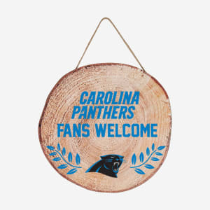 Carolina Panthers Wood Stump Sign