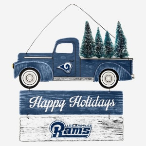 Los Angeles Rams Wooden Truck With Tree Sign