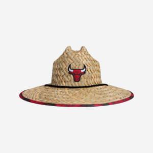 Chicago Bulls Floral Straw Hat