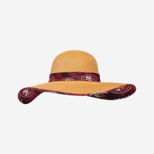 San Francisco 49ers Womens Floral Straw Hat