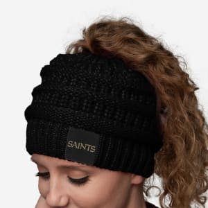New Orleans Saints Womens Ponytail Beanie