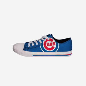 Chicago Cubs Mens Low Top Big Logo Canvas Shoe - 9