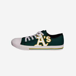 Oakland Athletics Mens Low Top Big Logo Canvas Shoe - 7