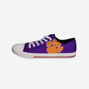 Clemson Tigers Mens Low Top Big Logo Canvas Shoe - 9