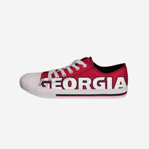 Georgia Bulldogs Mens Low Top Big Logo Canvas Shoe - 9