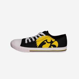 Iowa Hawkeyes Mens Low Top Big Logo Canvas Shoe - 10