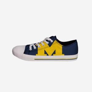 Michigan Wolverines Mens Low Top Big Logo Canvas Shoe - 7