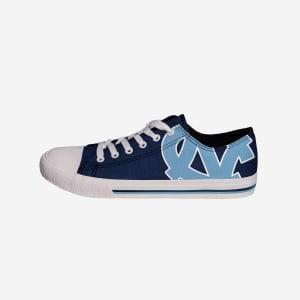 North Carolina Tar Heels Mens Low Top Big Logo Canvas Shoe - 11