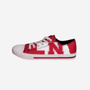 Nebraska Cornhuskers Mens Low Top Big Logo Canvas Shoe - 10