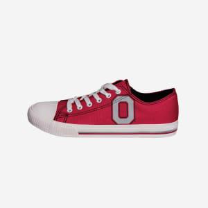Ohio State Buckeyes Mens Low Top Big Logo Canvas Shoe - 11