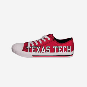 Texas Tech Red Raiders Mens Low Top Big Logo Canvas Shoe