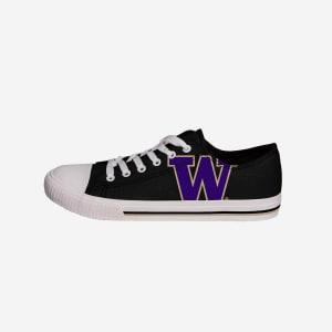 Washington Huskies Mens Low Top Big Logo Canvas Shoe - 12