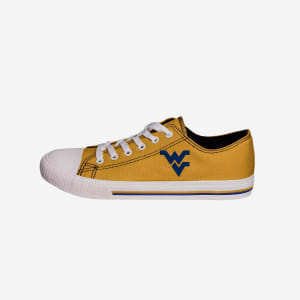 West Virginia Mountaineers Mens Low Top Big Logo Canvas Shoe - 7