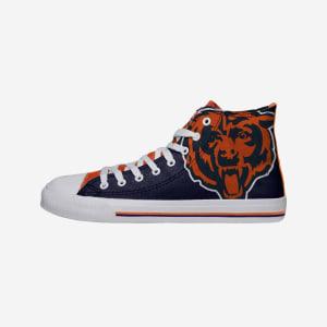 Chicago Bears Mens High Top Big Logo Canvas Shoe - 8