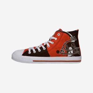 Cleveland Browns Mens High Top Big Logo Canvas Shoe - 9