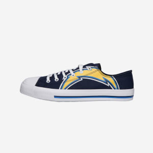 Los Angeles Chargers Mens Low Top Big Logo Canvas Shoe - 7