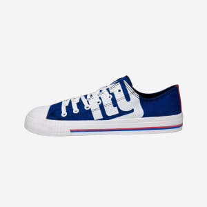 New York Giants Mens Low Top Big Logo Canvas Shoe - 10