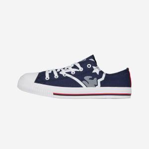New England Patriots Mens Low Top Big Logo Canvas Shoe - 7