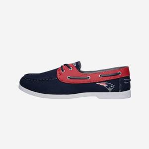 New England Patriots Mens Side Logo Canvas Shoe - 8