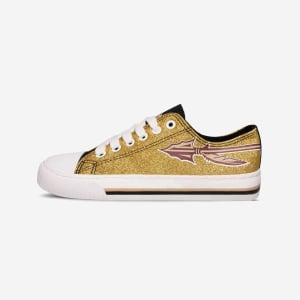 Florida State Seminoles Womens Glitter Low Top Canvas Shoe - 7