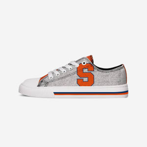Syracuse Orange Womens Glitter Low Top Canvas Shoe - 8