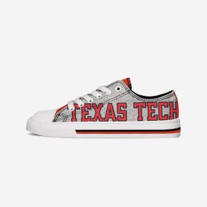 Texas Tech Red Raiders Womens Glitter Low Top Canvas Shoe - 7