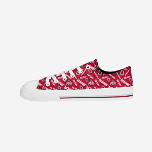 Ohio State Buckeyes Womens Low Top Repeat Print Canvas Shoe - 10