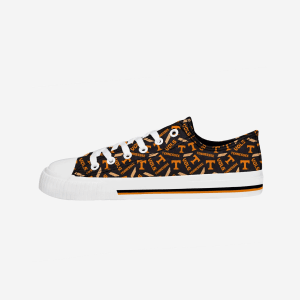 Tennessee Volunteers Womens Low Top Repeat Print Canvas Shoe - 6