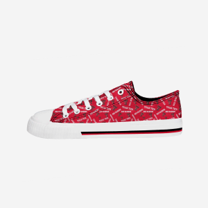 Texas Tech Red Raiders Womens Low Top Repeat Print Canvas Shoe - 8