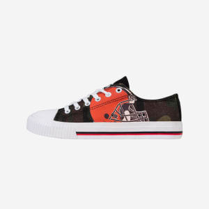 Cleveland Browns Womens Camo Low Top Canvas Shoe - 7