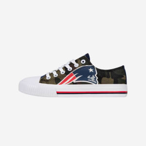 New England Patriots Womens Camo Low Top Canvas Shoe - 8