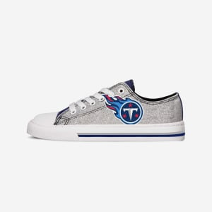 Tennessee Titans Womens Glitter Low Top Canvas Shoe - 8