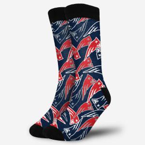 New England Patriots Logo Blast Socks - S/M
