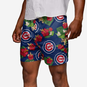 Chicago Cubs Floral Swimming Trunks - M