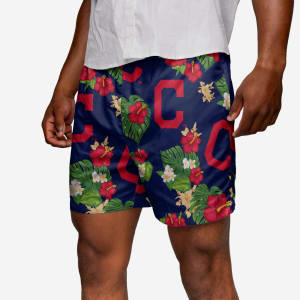 Cleveland Indians Floral Swimming Trunks - L