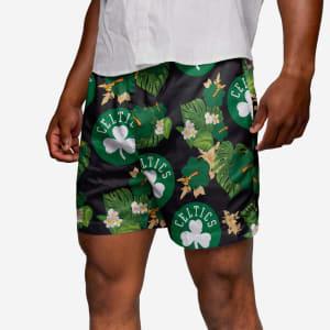 Boston Celtics Floral Swimming Trunks