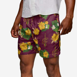 Cleveland Cavaliers Floral Swimming Trunks - L