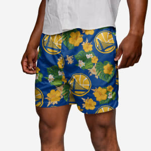Golden State Warriors Floral Swimming Trunks - 2XL