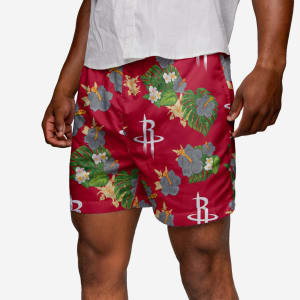 Houston Rockets Floral Swimming Trunks - L